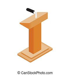 Wooden podium tribune rostrum stand