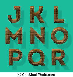 Wooden polygonal alphabet, part 2