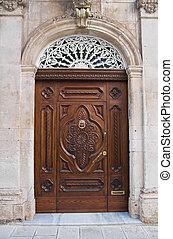 Wooden portal.