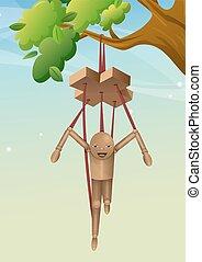 Wooden Puppet, illustration