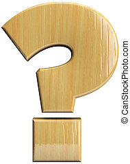 Wooden question mark