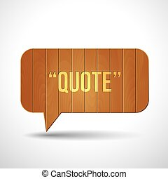 Wooden quote blank tamplate