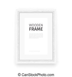 Wooden Rectangle Frame White - Wooden rectangle frame white...
