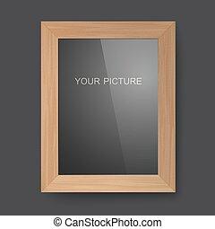 Wooden rectangular frame