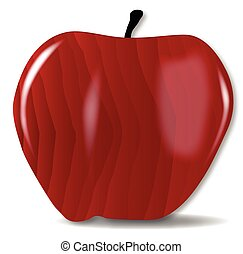 Wooden Red Apple