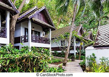 Wooden resort in Thailand