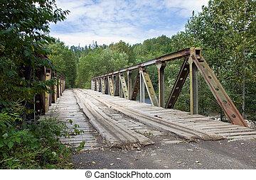 Wooden road bridge