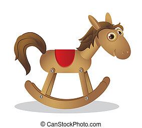 wooden rocking horse - rocking chair