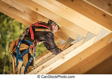 Wooden Roof Frame Construction