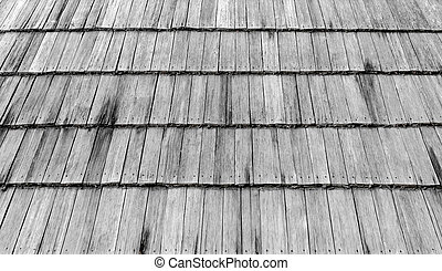 Wooden roof of an old house.