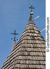 Wooden roof of old church