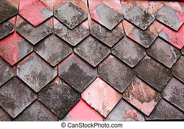 Wooden roof slats