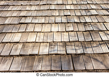 wooden roof surface