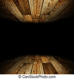 wooden room with place for text
