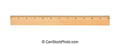 Wooden Ruler - A wood ruler isolated over a white background