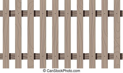Wooden seamless fence rectangle shape isolated