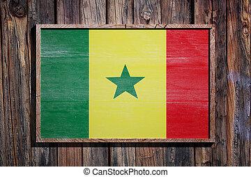 Wooden Senegal flag
