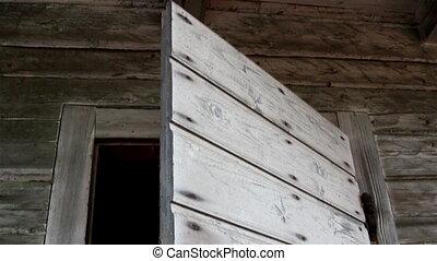 Wooden shakes of a door