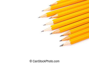 Wooden sharp pencils