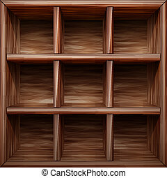wooden shelf abstract vector illustration isolated on ...