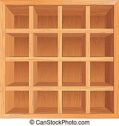 Wooden Shelves Background