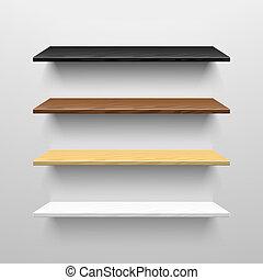 Wooden shelves illustration