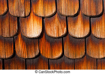 Wooden Shingles Background Pattern