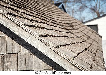 wooden shingles