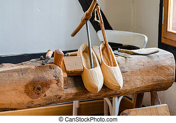 Traditional Dutch Shoes Called Clogs Traditional Wooden Dutch