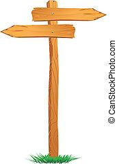 Wooden Sign Arrow