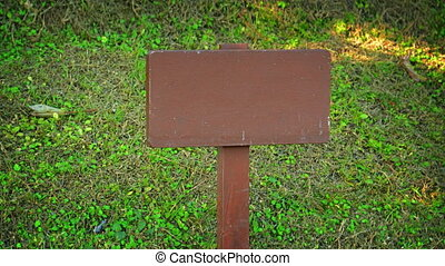 Wooden Sign Post with No Writing - Wooden sign post, painted...