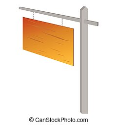 wooden sign vector illustration