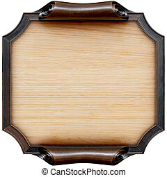 signboard - Wooden signboard with brown wooden frame....