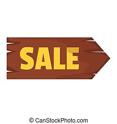 Wooden signboard with text sale for your design vector illustration isolated on white background