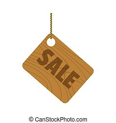 Wooden signboard with text sale for your design vector illustration isolated on white backgroun