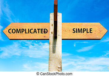 Complicated versus Simple