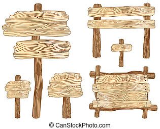 Wooden Signs - Blank wooden sign and notice board...
