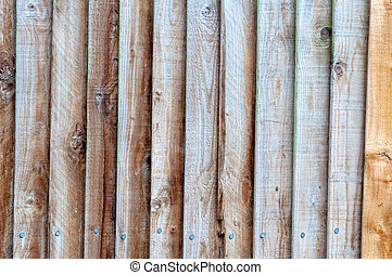 Wooden Slatted Fence