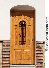 wooden spanish door