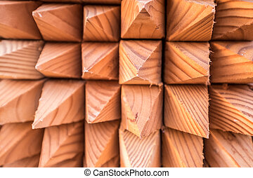 Wooden fencing spikes abstract  Large pointed ends and