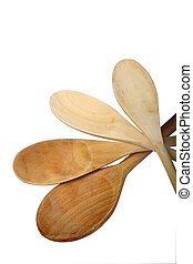 Wooden Spoon - Digital photo of several wooden spoons.