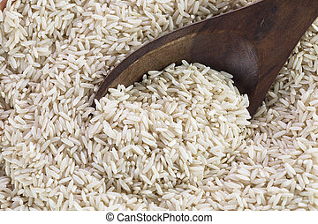 Wooden Spoon in Brown Rice