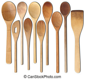 Wooden Spoons - Assortment of wooden spoons.