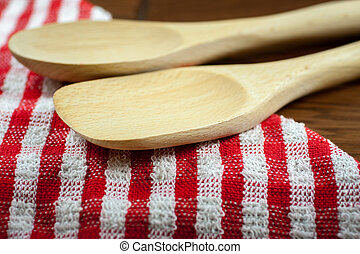 Wooden Spoons on a table