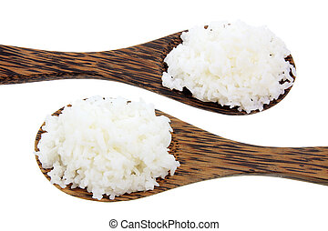 Wooden Spoons with Rice