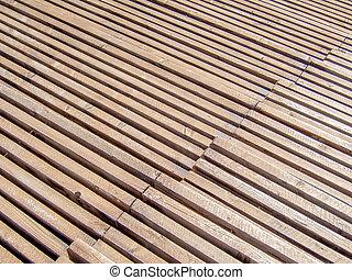 wooden sports rostrum