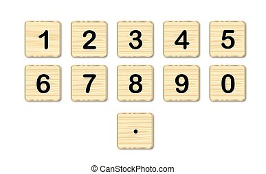 Wooden Square Numbers