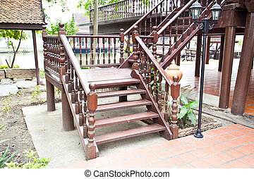 Wooden stair