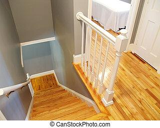 Wooden stairway