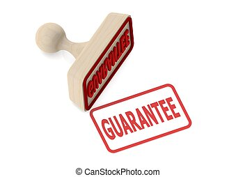 Wooden stamp with guarantee word